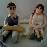 My first personalised Bride & Groom toppers
