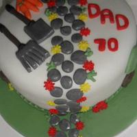 gardening cake for 70th birthday