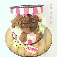little dog cake!
