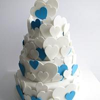 Vintage Heart Wedding Cake