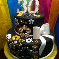 Black/Gold/White 30th B-Day by lanett