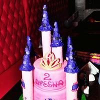 princess castle cake! by mals