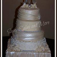 Ivory Bling Cake