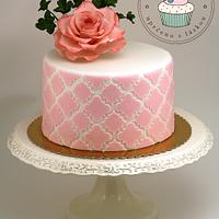 Birthday Cake with Sugar Rose