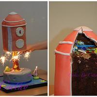 Rocket birthday cake