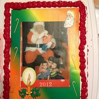 Christmas cake with edible image