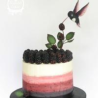 Blackberry bird cake
