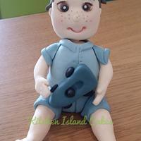 Little boy cake topper