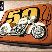 THE GET YOUR MOTOR RUNNING 50th BIRTHDAY CAKE