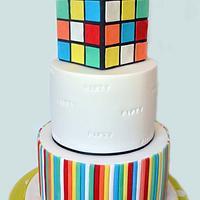 Retro Theme 50th Birthday Cake