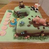 Farrah's Farm Cake by Sian