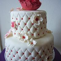 Quilted Peony cake