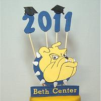 Rachel's Graduation by Toni (White Crafty Cakes)