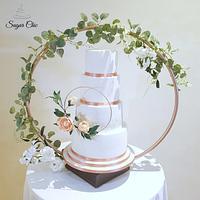 x Sorrento Inspired Wedding Cake x