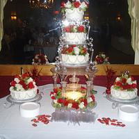 My Sons Wedding Cake I Made for Him and his new Wife. by Sally Nicholas