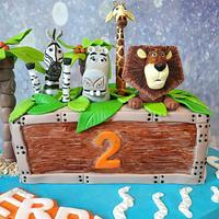 Madagascar cake by Arty Cakes