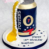 Fosters Lager Can Cake