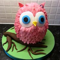 Little pink owl