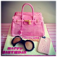 Pink Birking bag cake