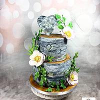 Wedding birchcake