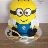 doctor minion cake