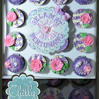 cuppies purple & pink butterceam