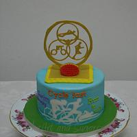 Triathalon themed cake