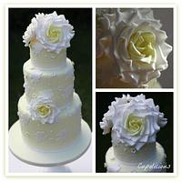 Wedding lace cake