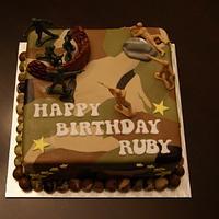 An Army Fan's Birthday Cake