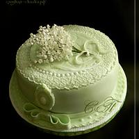 Cake with lilies of the valley by Svetlana