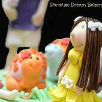 The 4 Kids Birth Day Cake. by Tema