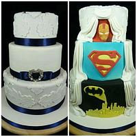 Hidden Superhero Wedding Cake