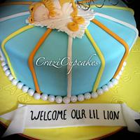 Lil Lion Baby Shower Cake