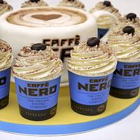 Caffe Nero Coffee Cup and Cupcakes