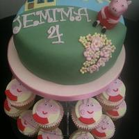 Peppa Pig Cupcake tower
