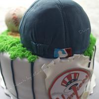 Yankees cake by Martha Chirinos Teruel