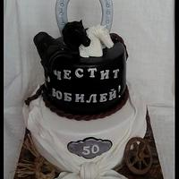 Cake with horses