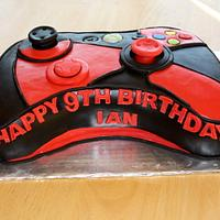 Red and Black X-Box 360 Controller Cake
