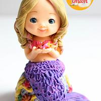 Mermaid Fondant Cake Topper