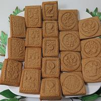 Dutch Speculaas Cookies with springerle molds.