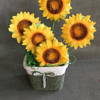 Sunflowers gingerbread cookies