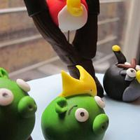 Angry Birds Birthday Cake by CathyC