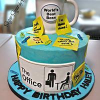 """The Office"" Birthday Cake"