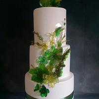 isomalt succulent wedding cake