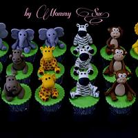 Safari Themed Cupcakes