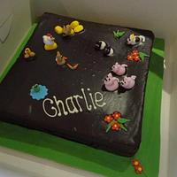 Farm animal christening cake by Leah Stevenson