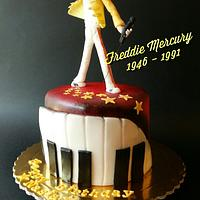 Freddie Mercury cake