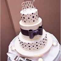 purple crystal and diamond cake