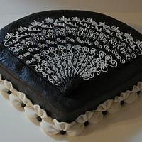 Lace fan cake by Zohreh