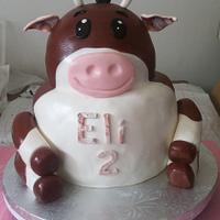 Eli's heifer cow birthday